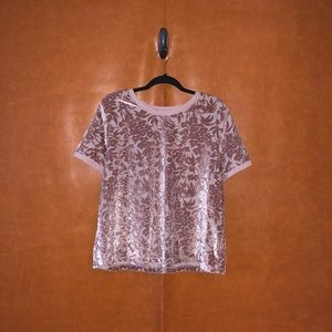 A New Day- pink velvet top